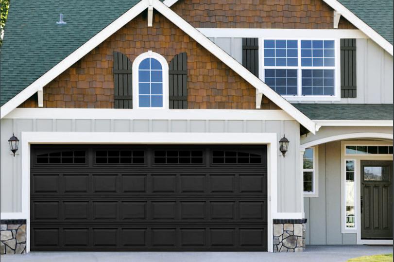 The Hampshire Garage Door In Black