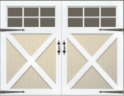 Artisan benchmark in white ...  sc 1 st  Jolicoeur Overhead Doors & Artisan benchmark Custom Wood Carriage House Garage Door by Jolicoeur
