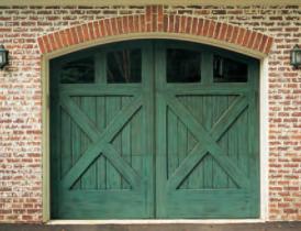 Artisan Medallion Custom Wood Carriage House Garage Door