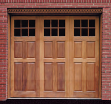 Artisan Medallion Custom Wood Carriage House Garage Door