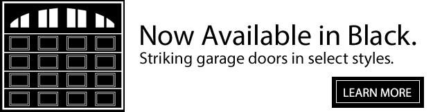 Garage Doors. Now in Black