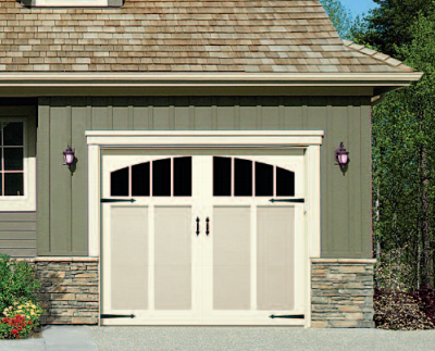 ... Artisan benchmark bi-fold appearance ... & General Doors Landmark Steel Carriage House Door With Overlay